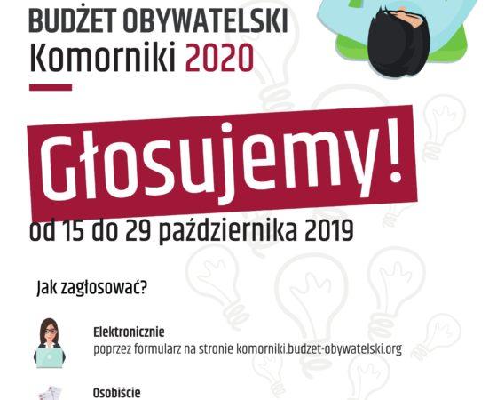 Budżet obywatelski Komorniki 2020